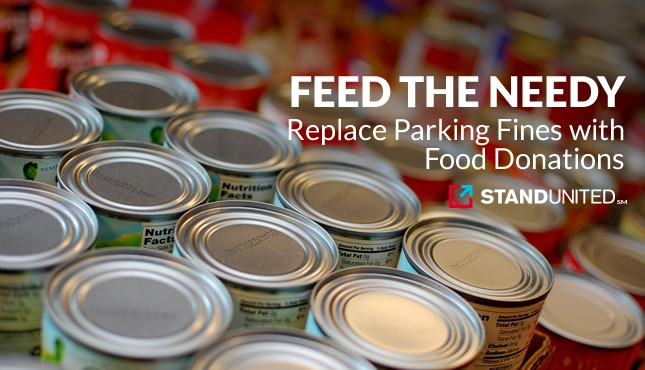Allow People to Pay their Parking Tickets with a Canned Food Donation During the Holidays